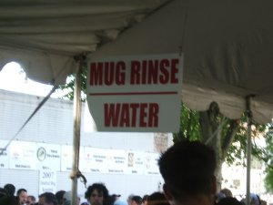 Mug rinse / water station