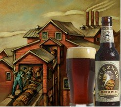 Deschutes Brewery's Buzzsaw Brown is on tap for January 2009