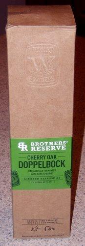 Widmer Cherry Oak Doppelbock in the box