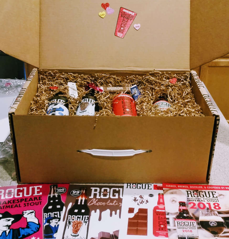 Received: Rogue Ales stout beer box