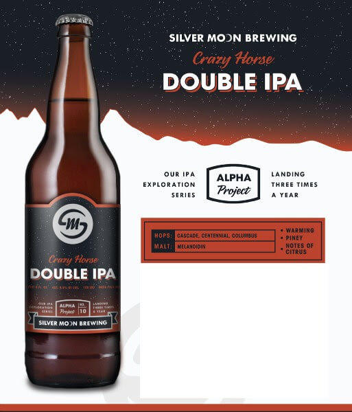 Silver Moon Brewing new bottle labels