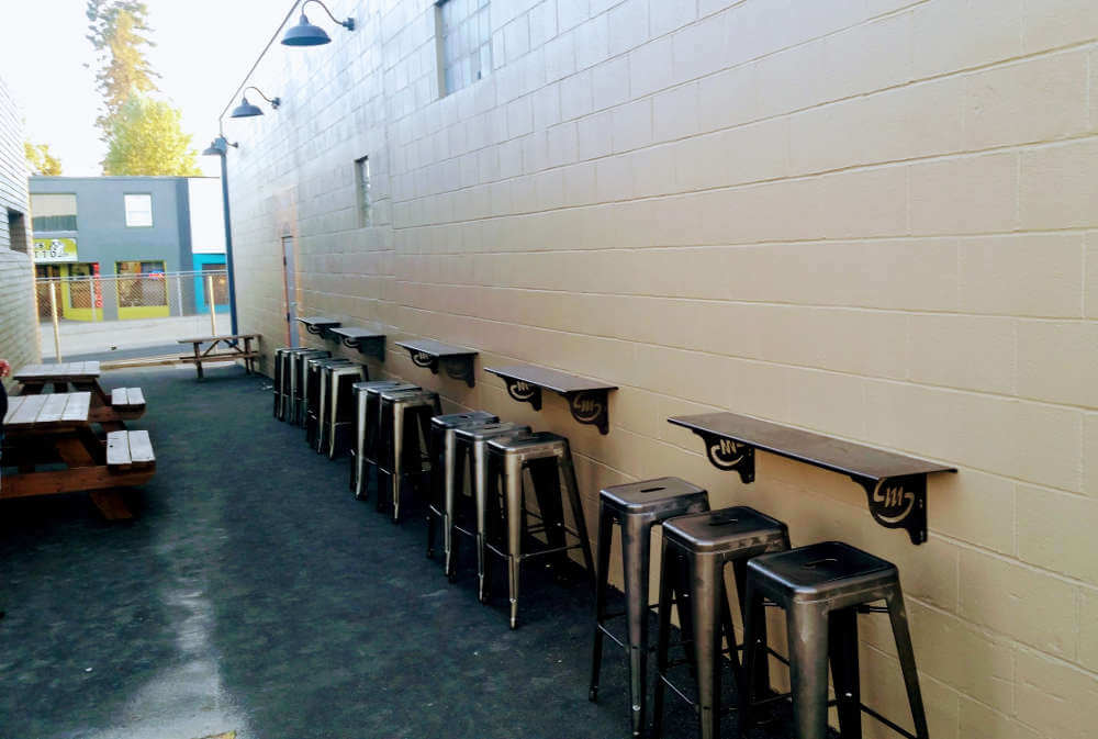 Silver Moon Brewing remodel: Alley seating