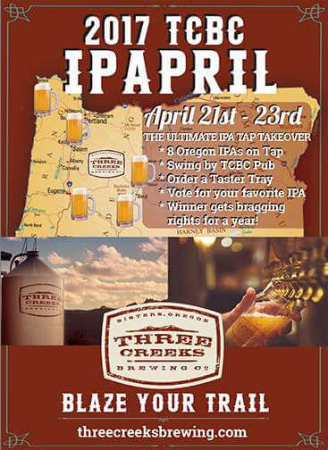 Three Creeks Brewing IPApril 2017