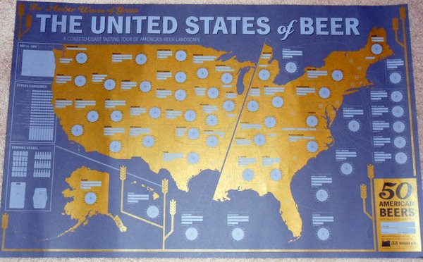 The United States of Beer Tasting Map