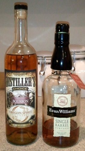 Whiskeys (Evan Williams Single Barrel and Oregon Spirits Distillers)