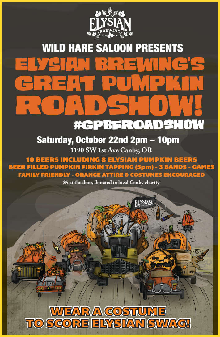 Elysian Pumpkin Roadshow at The Wild Hare