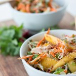 Vietnamese Green Mango Salad and Barbecued Chicken with Lime-leaf