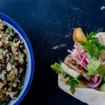 Greek Chicken Souvlaki + Cypriot Grain Salad