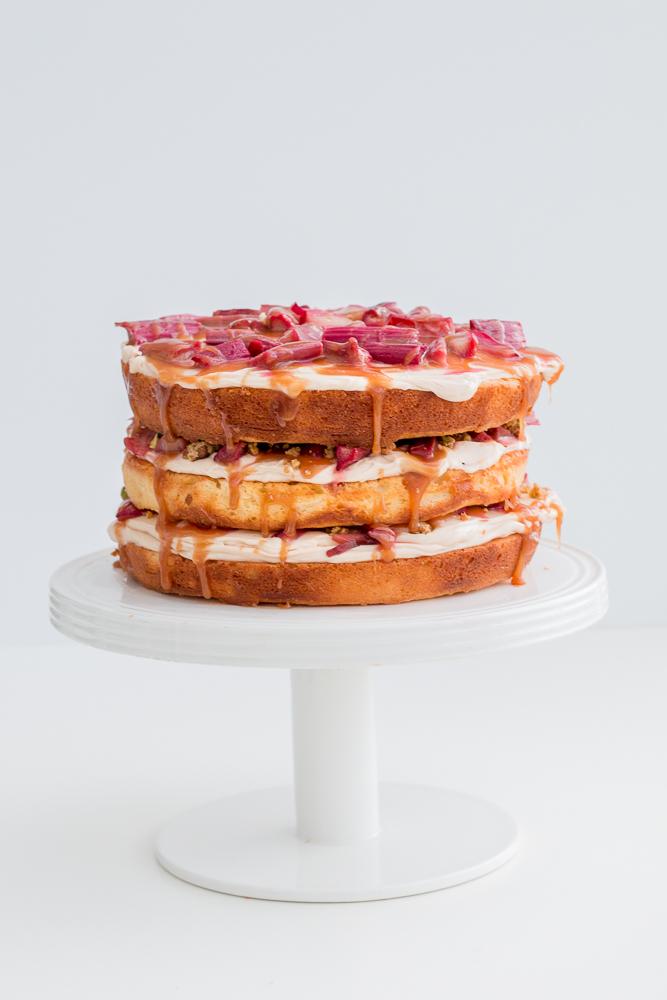 Rhubarb Yogurt Cake Recipe