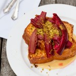 Brioche French Toast with Rhubarb and Creme Patisserie