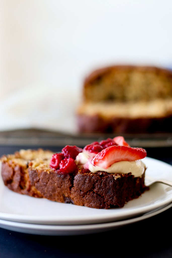 Chocolate Chunk Banana Bread with Espresso Mascarpone - The Brick Kitchen
