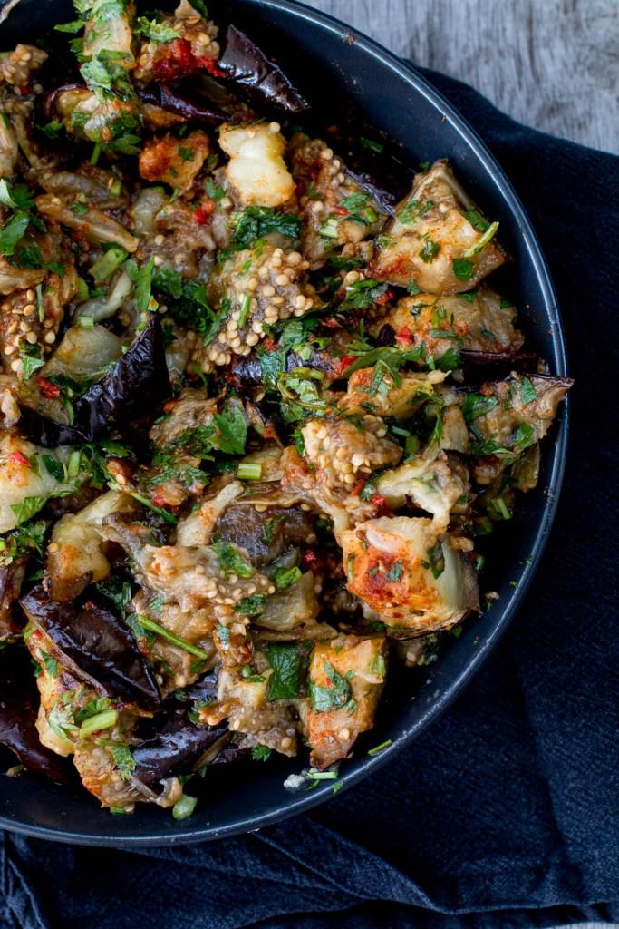 Spiced Eggplant Shakshuka