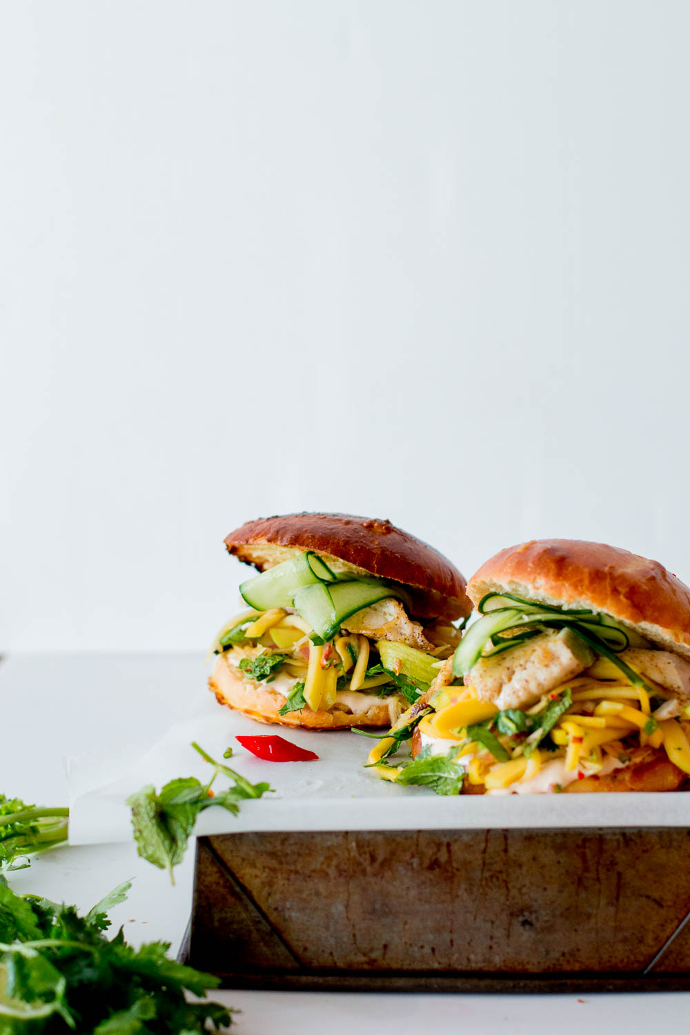 Thai Fish Burgers with Green Mango & Papaya Slaw | The Brick Kitchen