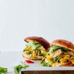 Thai Fish Burgers with Green Mango & Papaya Slaw