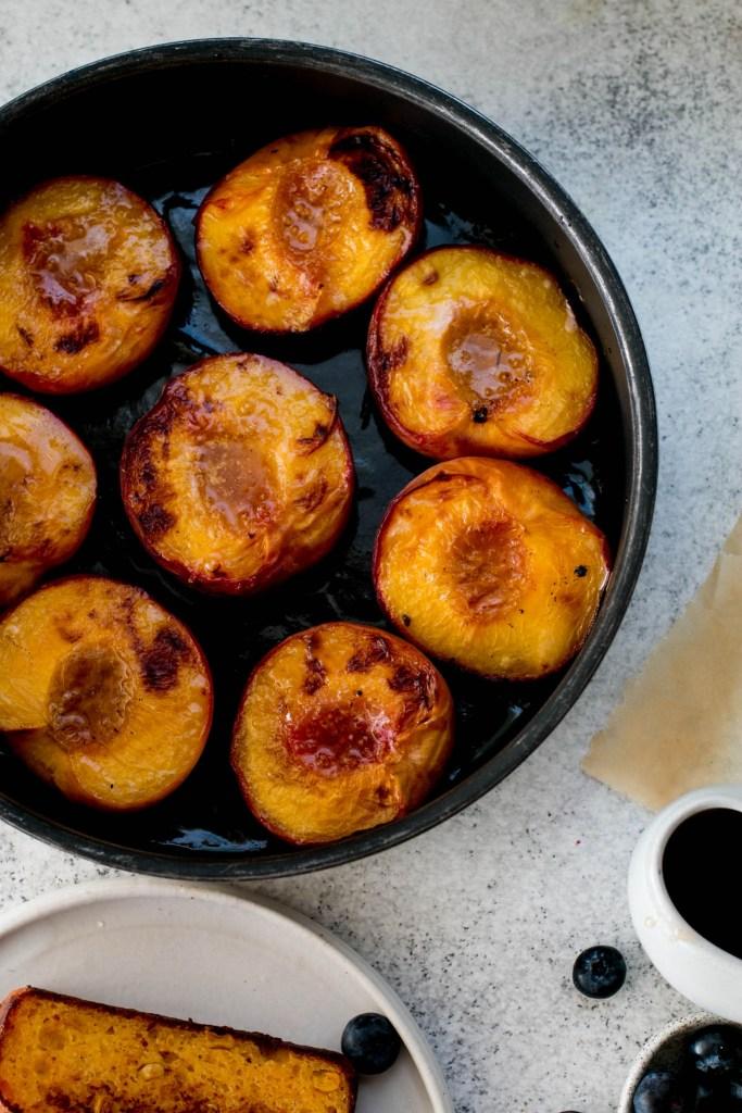 Cornbread with Maple Roast Peaches