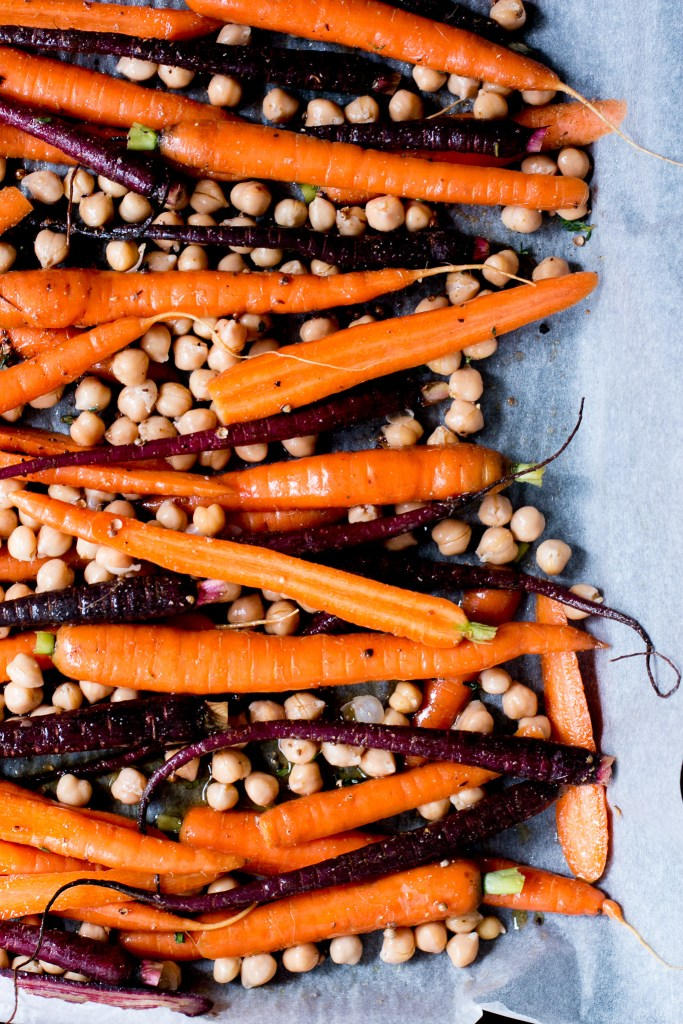 Roast Carrot, Chickpea & Avocado Salad with Cumin Honey Yogurt - The Brick Kitchen