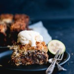 Sticky date, coconut & feijoa lumberjack cake - The Brick Kitchen