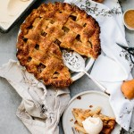 Salted Caramel Pear Pie with Ginger Gelato