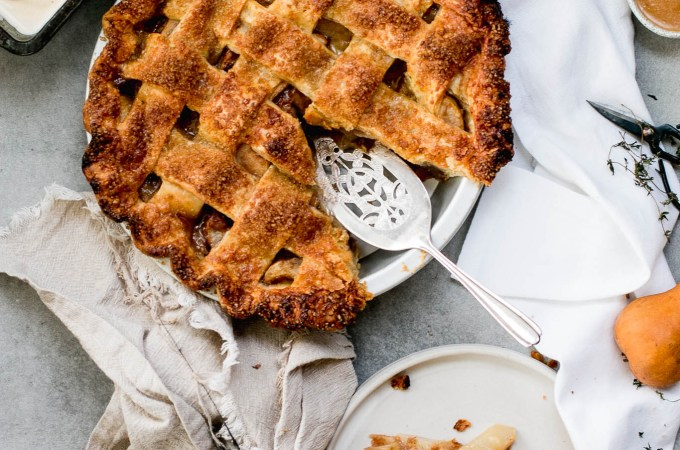 Salted Caramel Pear Pie - The Brick Kitchen