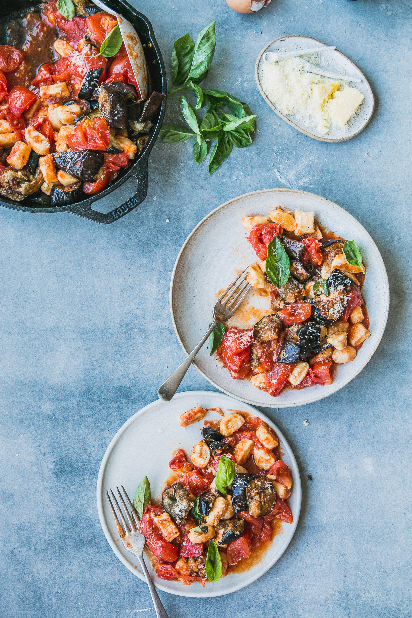 Fast Ricotta Gnocchi with Roast Tomato & Eggplant Sauce | The Brick ...