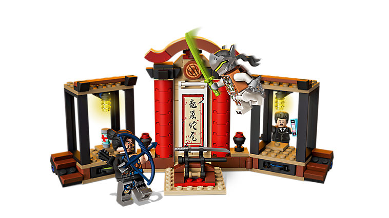 The Hanamura dojo from the LEGO Overwatch Series