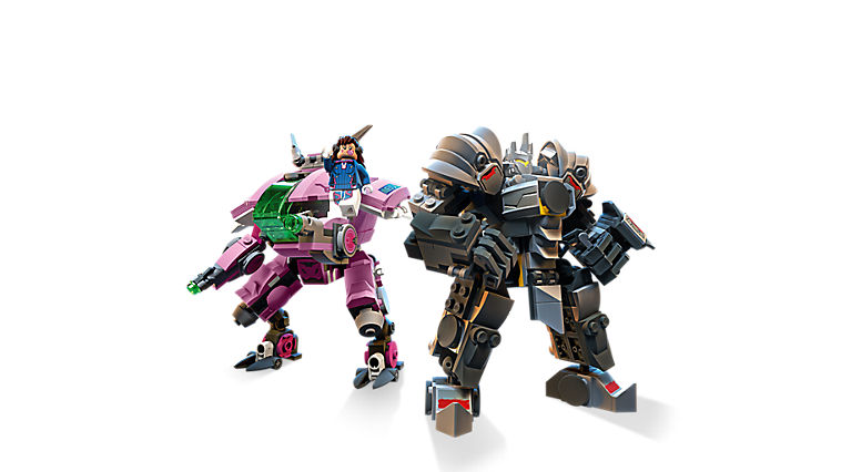 LEGO Overwatch Minifigures D.Va and Reinhardt
