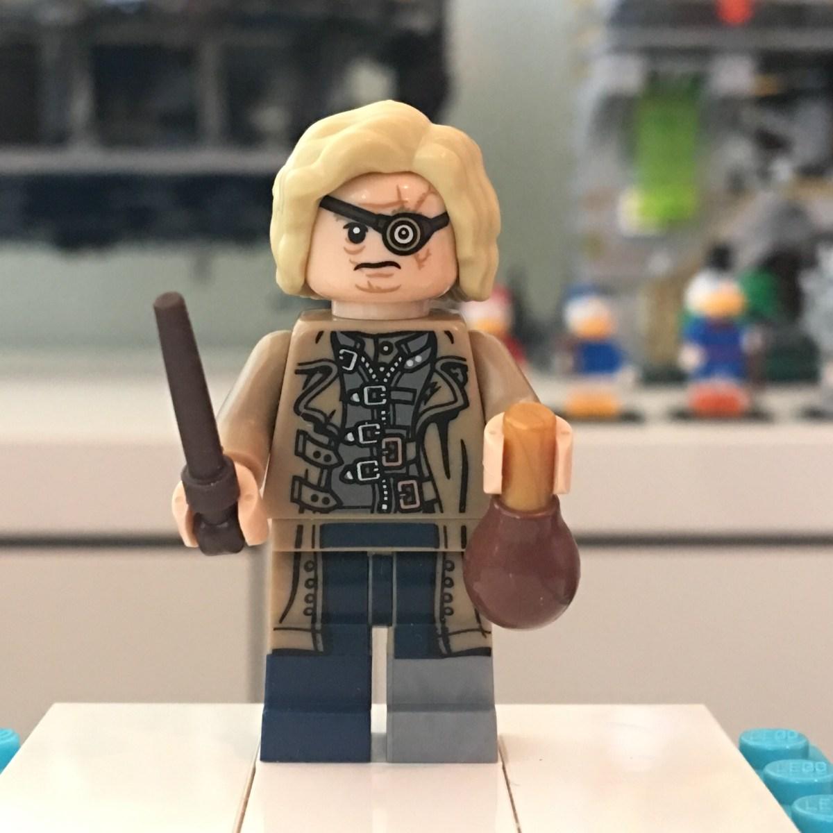 LEGO  Mad Eye Moody Head Hair and Legs New