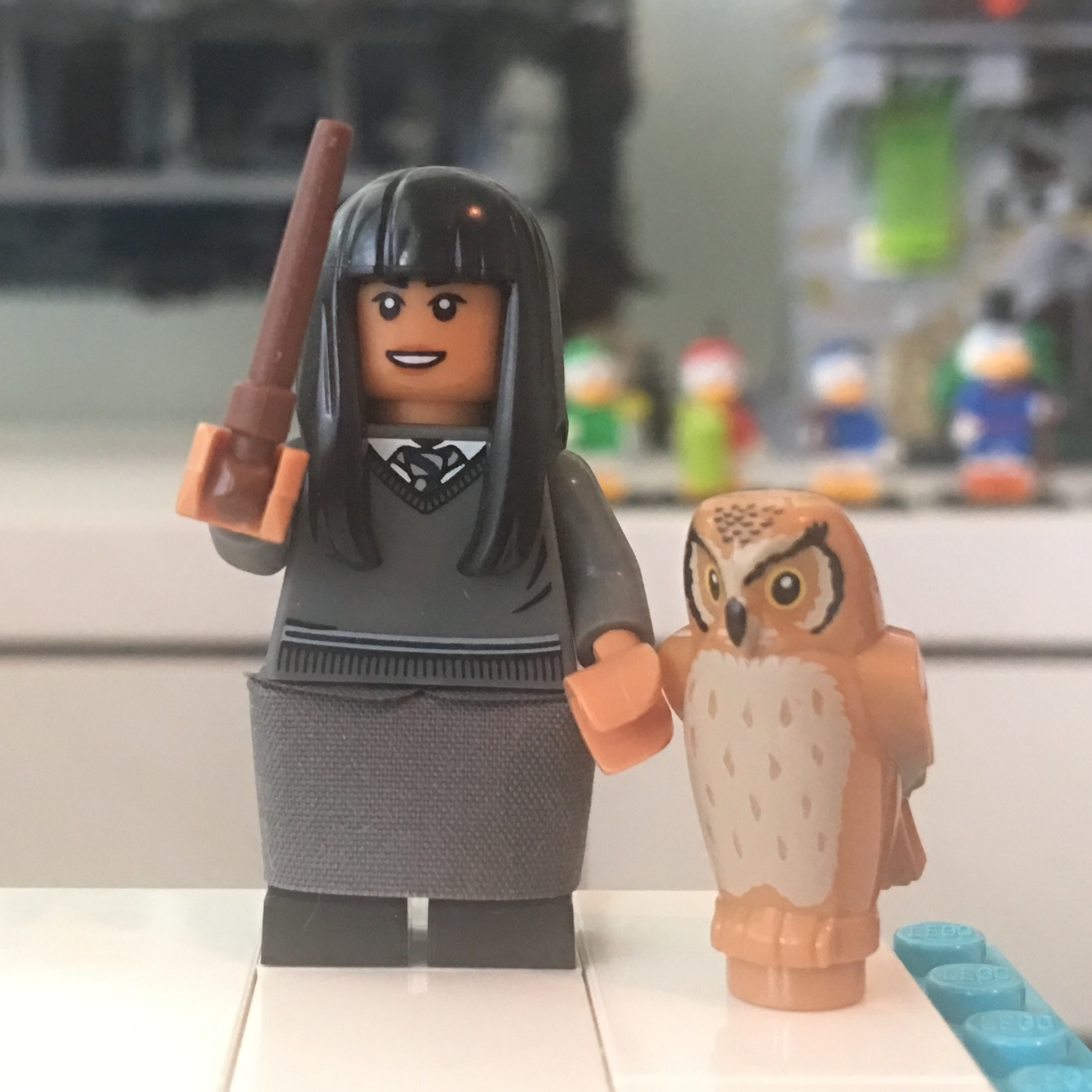 Lego New Black Girl Minifig Hair Female Long Straight with Bangs Rubber Style