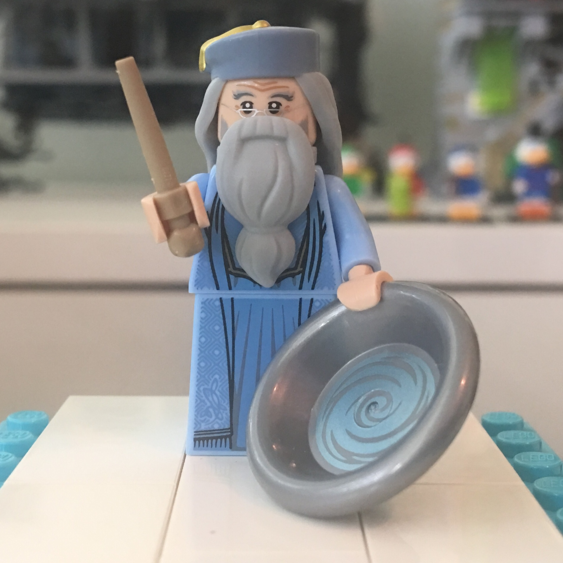 LEGO Minifigure Legs BRIGHT BLUELower Body Skirt with Medium Blue Robe w Inset