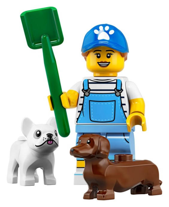 Lego Series 18 CMF Dog Walker Minifigure