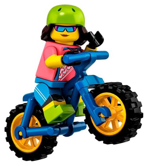LEGO Series 19 Mountain Biker Minifigure