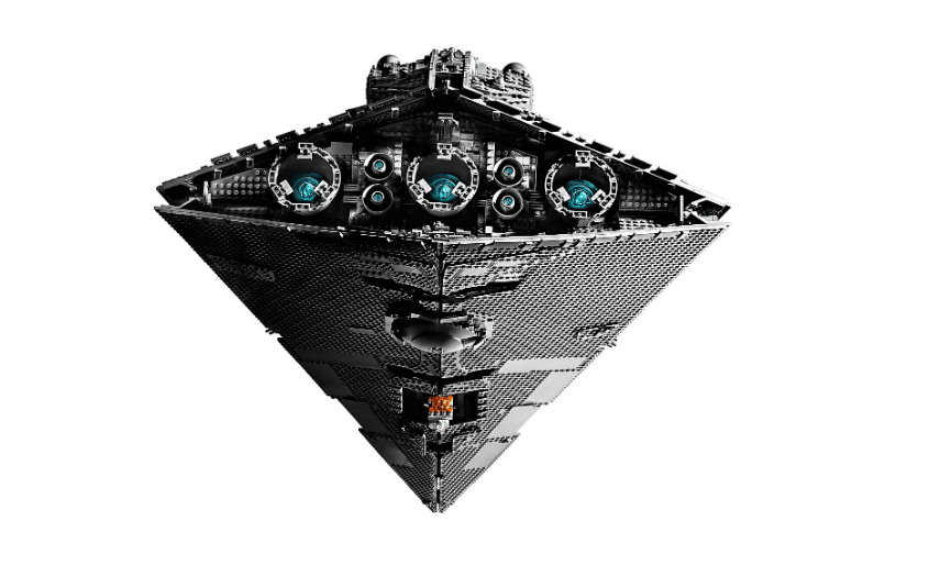 LEGO 75252 The Destroyer UCS Imperial Star Destroyer back View.