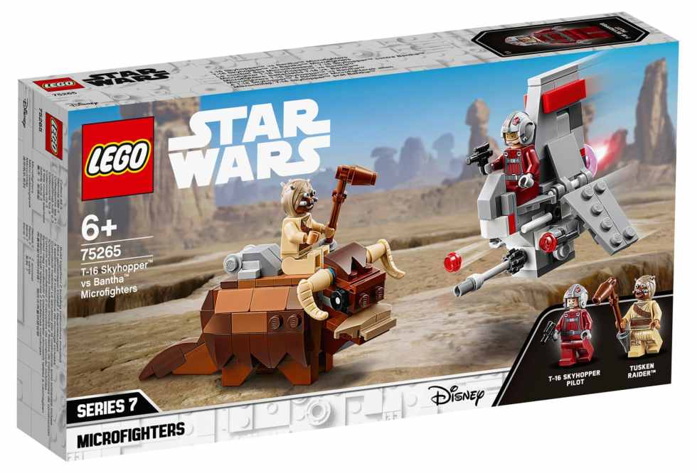 LEGO 75265 Star Wars T-16 Skyhopper Vs. Bantha Microfighter Box Front