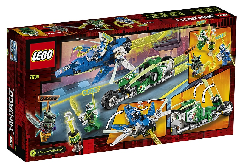 LEGO 71709 Ninjago Jay and Lloyd's Power Car Box Back