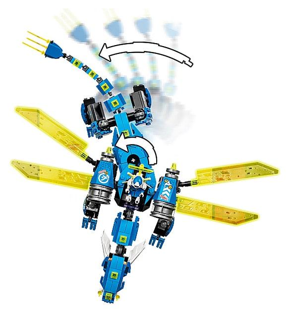 LEGO 71711 Ninjago Jay's Cyber Dragon details