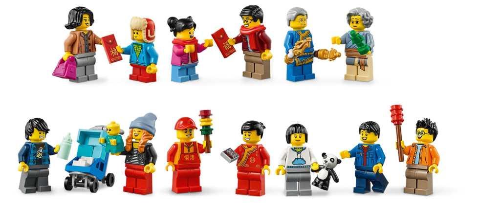 LEGO 80105 Temple Fair minifigs