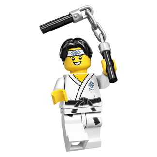 Lego 71027 Karate Guy Series 20 Minifigure