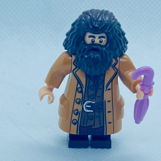 LEGO Rubeus Hagrid Minifigure, Medium Nougat Topcoat with Buttons