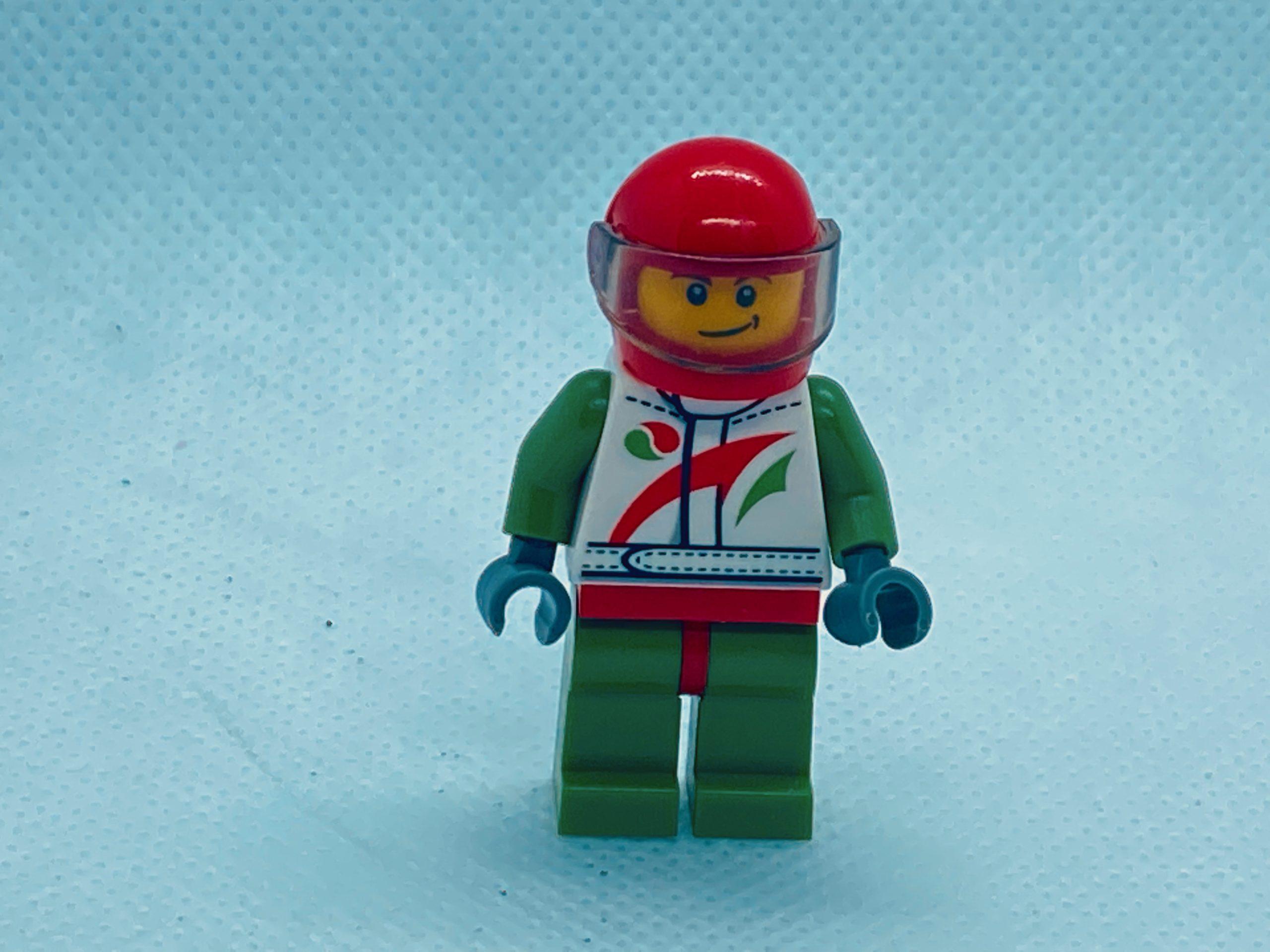Racing Car Driver Minifigure Octan Visor Race HelmetAll parts LEGO