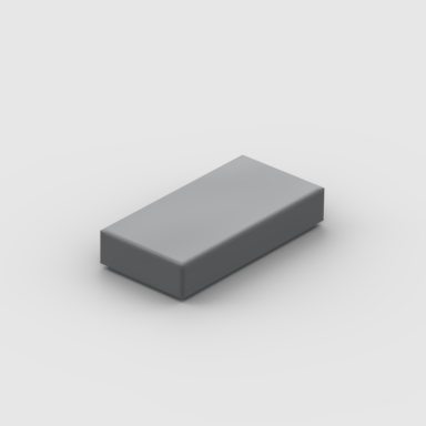 LEGO Part Dark Bluish Gray Tile 1 x 2 with Groove