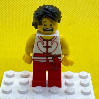 LEGO Minifigure Dragon Boat Race Team Red/White Member 4