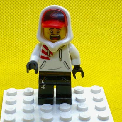 LEGO Jack Davids Minifigure in a white hoodie