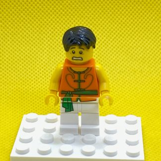 LEGO Minifigure Dragon Boat Race Team Green:Orange Member 5