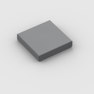 LEGO Part Dark Bluish Grey Tile 2 x 2 with Groove