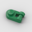 LEGO Part Green Plate, Round 1 x 1 with Bar Handle on Side