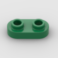 LEGO Part Green Plate, Round 1 x 2 with Two Open Studs