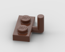LEGO Part Reddish BrownArm Plate, Modified 1 x 2 with Bar Arm Up (Horizontal Arm 5mm)