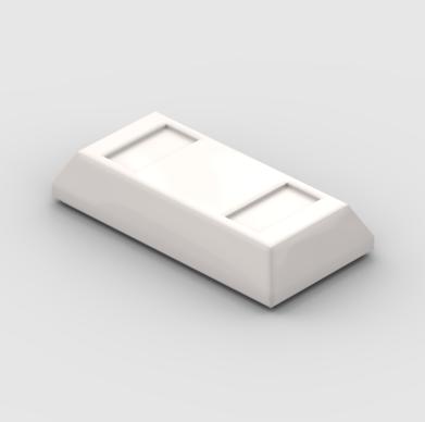 LEGO Part White Ingot - Bar 1x2