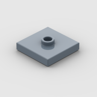 LEGO Part Sand Blue Plate, Modified 2 x 2 with Groove and 1 Stud in Center (Jumper)