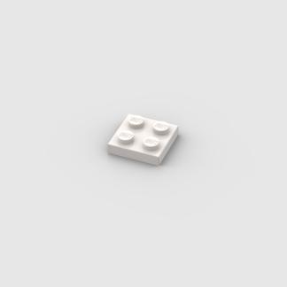 LEGO Part White Plate 2 x 2
